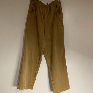 Vintage Koret beige camel suede lounge pants